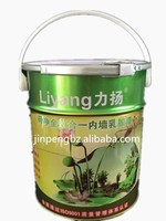 5L tin bucket has plastic handle and ring