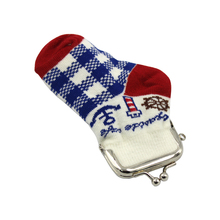 promotion cheap polyester kids sock coin purse
