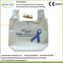 nylon shopping foldable roll up tote bag