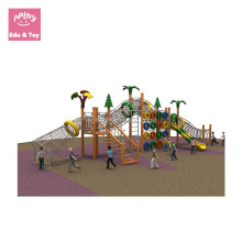 Garden play frames for kids outdoor ground landscape recreation wooden slide equipment