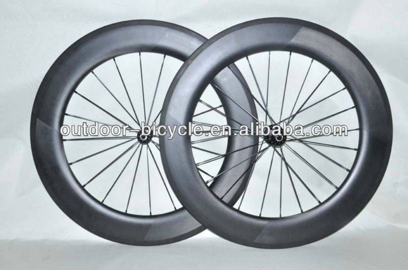 Hot sale 86mm carbon Road/TT bike/bicycle clincher wheels/wheelset glossy