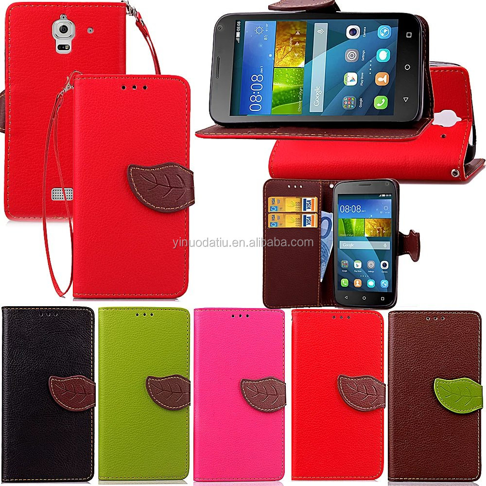 Factory price pu leather case for Huawei Y336, for Huawei Y336 flip leather cover