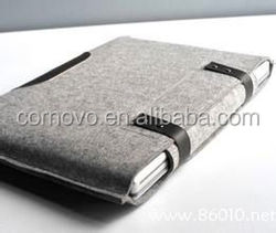custom logo 10.6 inch felt notebook sleeve bag