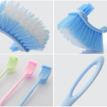 Plastic Long Handle Bathroom Toilet Bowl Scrub Double Side Cleaning Brush