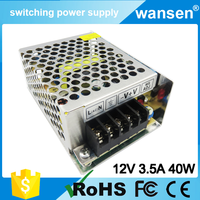 Constant current ac to dc 12v 3.5a 45w mini size led power supply smps