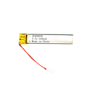 Rechargeable long 8mm width battery pack 3.7 v bluetooth headset battery