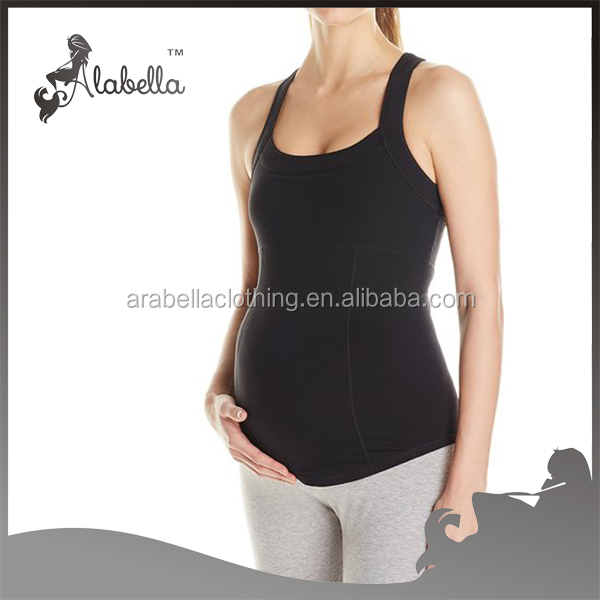Maternity wear singlet casual wear for pregnant with racer back design