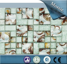 Elegant glass mix stone mosaic tile, popular for kitchen decoration