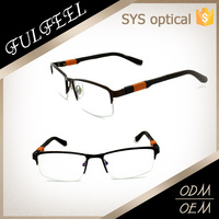 Half-rimless plastic eyewear brand names /spectacles frames/optical frame