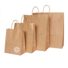 Top Quality shipping Handle Brown Kraft Gift Paper Bags