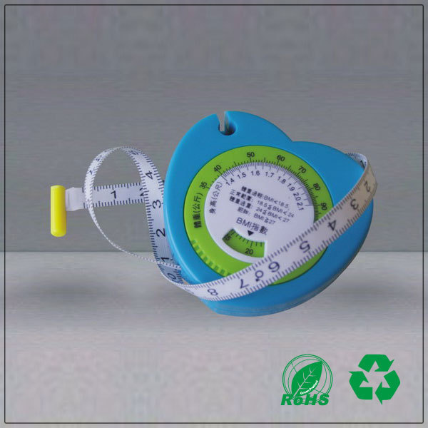 Exquisite gift bmi calculator with body measuring tape heart shaped bmi measuring tape