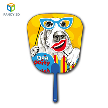 Zebulun Personalized Gift Design Plastic 3D Lenticular Hand Fan With Cartoon Picture
