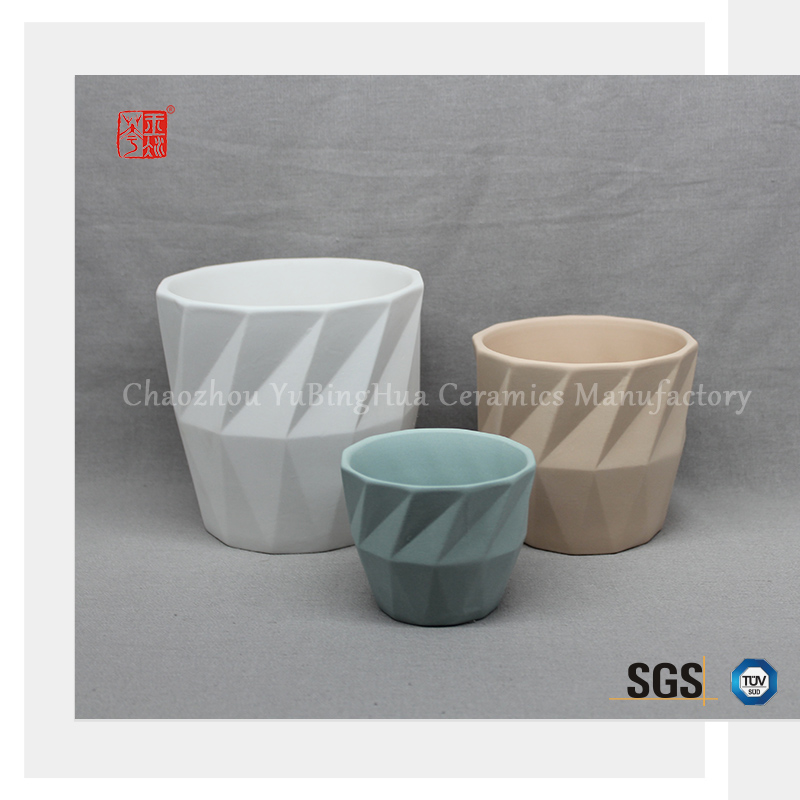 Most popular design low price outdoor garden ceramic color flower pot