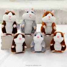 1 pcs 15CM Lovely Talking Hamster Plush <strong>Toy</strong> Cute Speak Talking Sound Record Hamster Talking <strong>Toys</strong> for Children sale