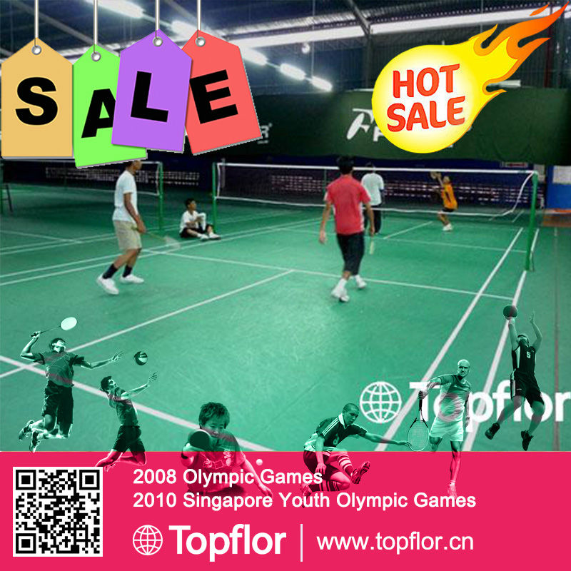 High Quality Olympics Quality Synthetic Badminton flooring Covering