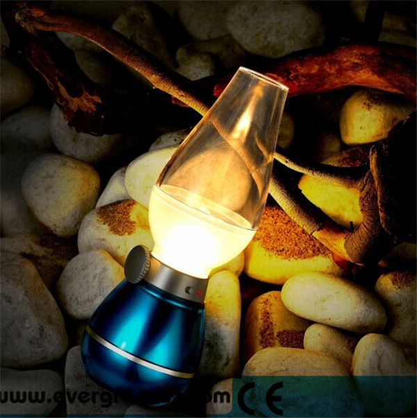 2018 Hot Fashion Style Blow On Off 0.3W 400mAh 18LM Vintage Blow Led Lamp