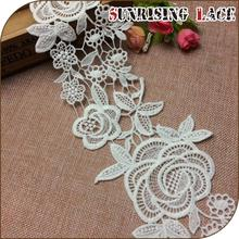 Custom embroidered fancy flower lace
