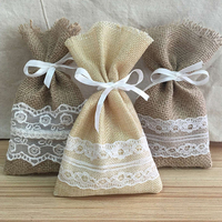 Wholesale fashion new linen gift bag small hessian gift bag