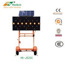 Han kun electronic signs Led solar flashing arrow board with CE approved