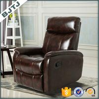 BJTJ Full PU brown classic funiture single recliner sofa home 70155