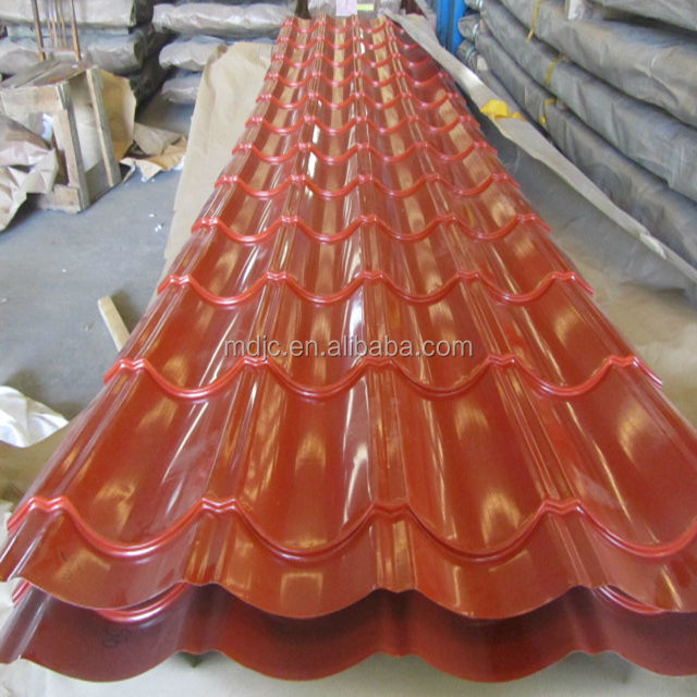corrugated steel corrugated color coated metal roof tile roof coated