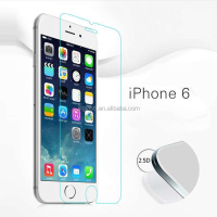 JJL high quality 9H 0.33mm 2.5D 3d curved tempered glass screen protector for iphone 6