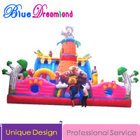 Large PVC Outdoor Inflatable slide jumping trampoline inflatable castle bouncer playland