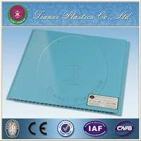 Pure Blue PVC Paneling Environmental Protection Interior wall Decoration material
