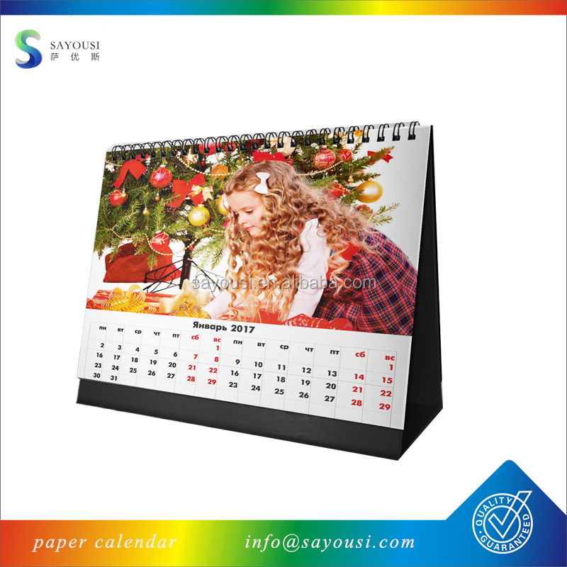 manufacturers personalized printing logo design table desk calendar 2019 wall calendar printing