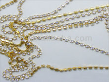 wholesale cup chain necklace with rhinestone