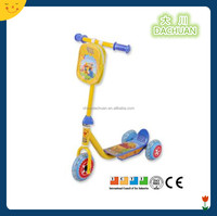 new plastic scooter for kids with fabric bag