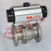 good quality dn25 ss304 pneumatic flange ball valve