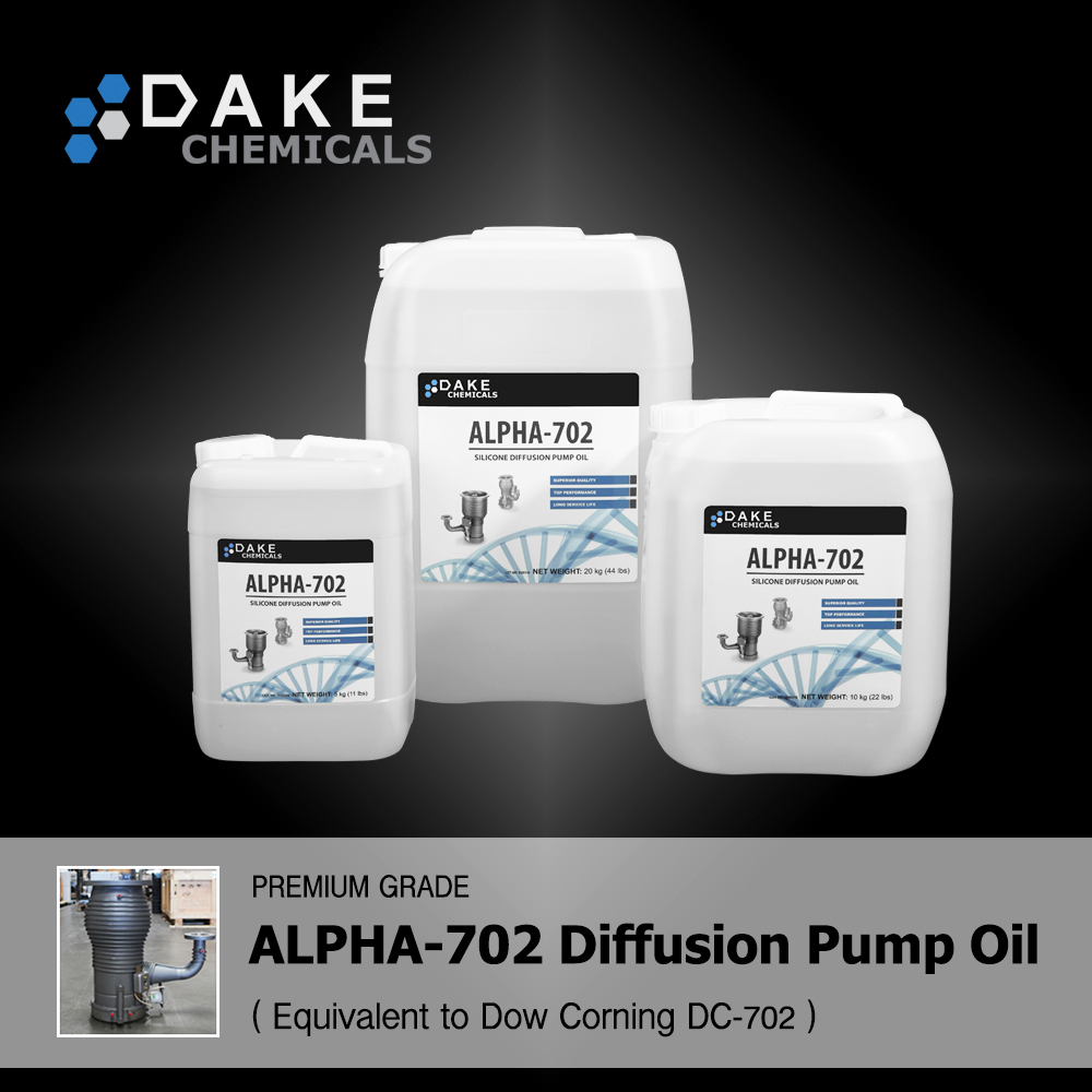 Silicone Diffusion Pump Oil ALPHA-702 (Replaces Dow Corning DC702)
