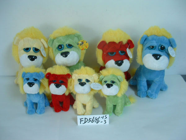 S/M/L beautiful promotional customized soft stuffed plush dog animal toy with flapping ear&silk bow tie