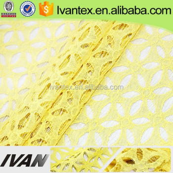 2015 New Arrival Wedding Dress Lace Nylon Cotton Fabric For High Quality Garment