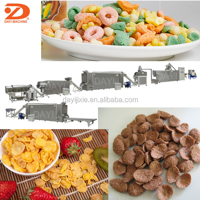 Puffing Cereal Corn Flakes Snack Food Making Machine