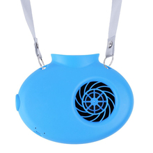 Mini Portable USB Rechargeable Fan Operated Necklace Fan