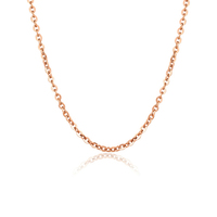 High Quality O Shape chain rose gold necklace 316L Stainless Steel Link Chain Necklaces Jewelry Wholesale