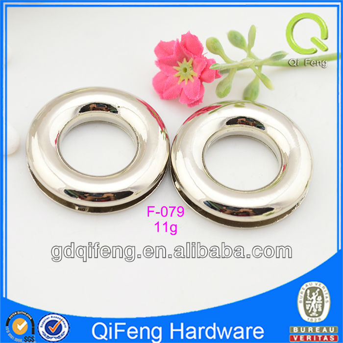 bag accessories shining silver O-shape eyelets with screw