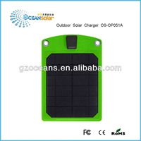 Canton Fair Newest flexible outdoor solar charger portable thin film panel OS-OP051A green energy good quality made in Guangzhou