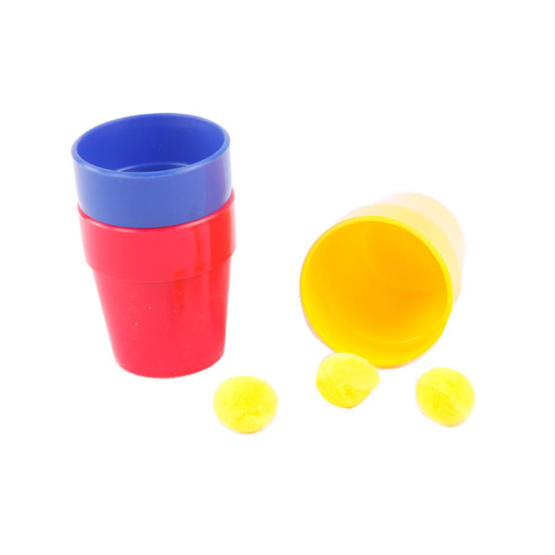 Easy to learn Cups and Balls magic and educational toys