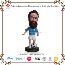 Hot selling resin soccer figure custom bobble head figurines