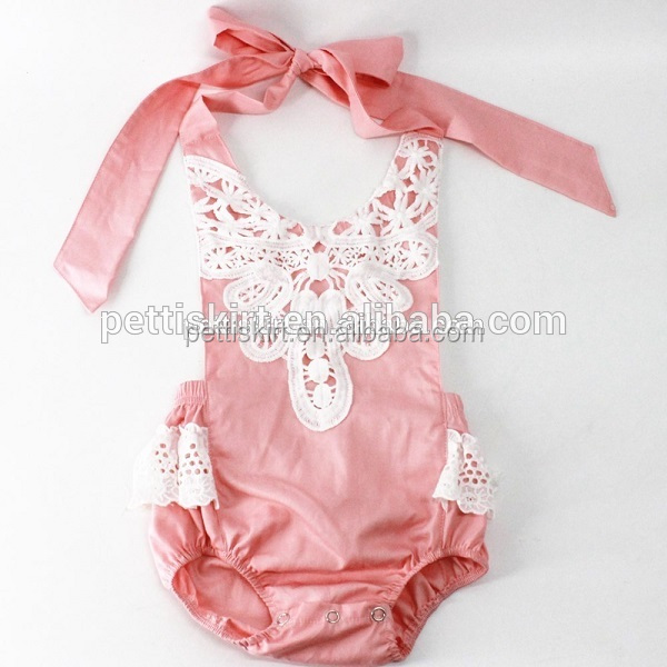 Newborn toddlers pink cotton design jumpsuit baby rompers wholesale
