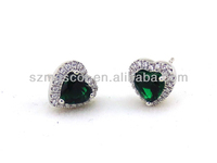 Alibaba Best Seller Infinity Rhinestone Stud Earrings 925 Sterling Silver Stud Earrings