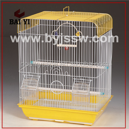 Handmade Big Bird Cage Accessories With Tray And Feeder
