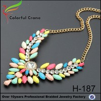New Design colorful charm necklace