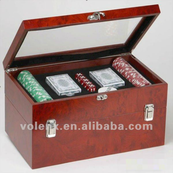 Wine Box with Poker Game Sets for Sale