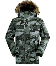 men's high quality military windproof waterproof ultralight fashion good design hooded goose down jacket in camouflage color