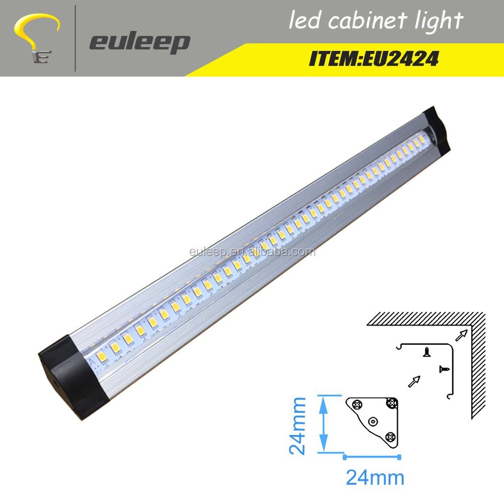 triangle aluminum profile led strip light bar for cabinet light,kitchen light,funiture lighting