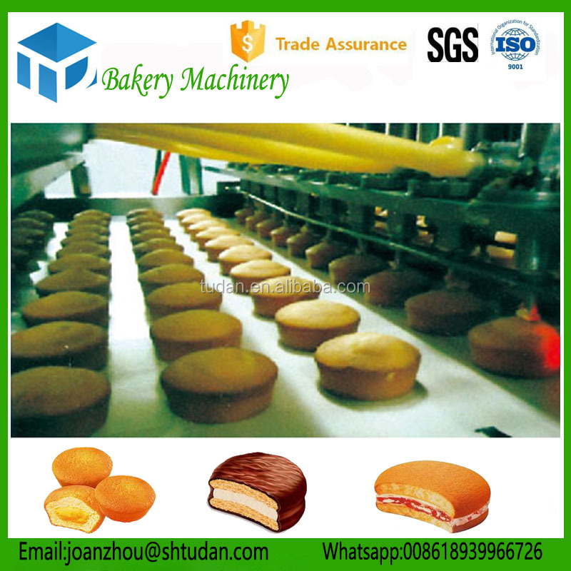 High quality 300kg/h stuffing custard cake forming machine/heart-shaped cake making machine with filling